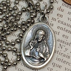 Jewelry - Vintage Sacred Heart of Jesus Our Lady Necklace